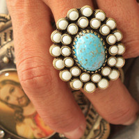 turquoise alley ring | gypsyville