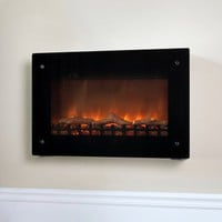 Fire Sense Black Wall Mounted Electric Fireplace - Electric Fireplaces at Hayneedle
