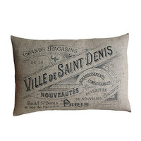 Paris Sign Cushion