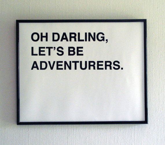 oh darling lets be adventurers medium  black by fifiduvie on Etsy
