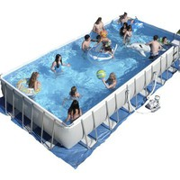 Intex Ultra Frame 32-by-16-Foot-by-52-Inch Rectangular Pool Set