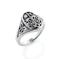 Celtic Trinity Knot Tree of Life with Sun and Moon Sterling Silver Ring(Sizes 3, 4, 5, 6, 7, 8, 9, 10, 11): Jewelry: Amazon.com