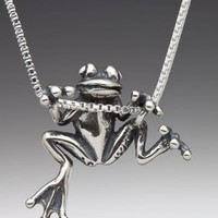 Tree Frog Charm Pendant by martymagic on Etsy