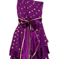 Thread Social Polka-dot silk-blend chiffon dress - 60% Off Now at THE OUTNET