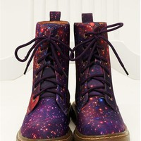 CHOC BOUTIQUE PURPLE GALAXY MARTENS SHOES