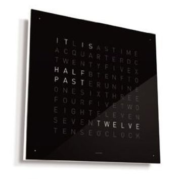 QLOCKTWO Wall Clock Black Ice Tea