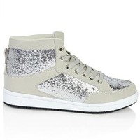 chunky glitter high top sneaker - debshops.com