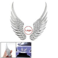 Amico Car Silver Tone Alloy Angel Wings Badge Stickers 2 Pcs : Amazon.com : Automotive