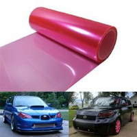 12 by 48 inches Self Adhesive Hot Pink Headlights, Tail Lights, Fog Lights, Sidemarkers Tint Vinyl Film : Amazon.com : Automotive