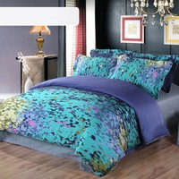 Satin twill four pieces bedding suit DB0015-09