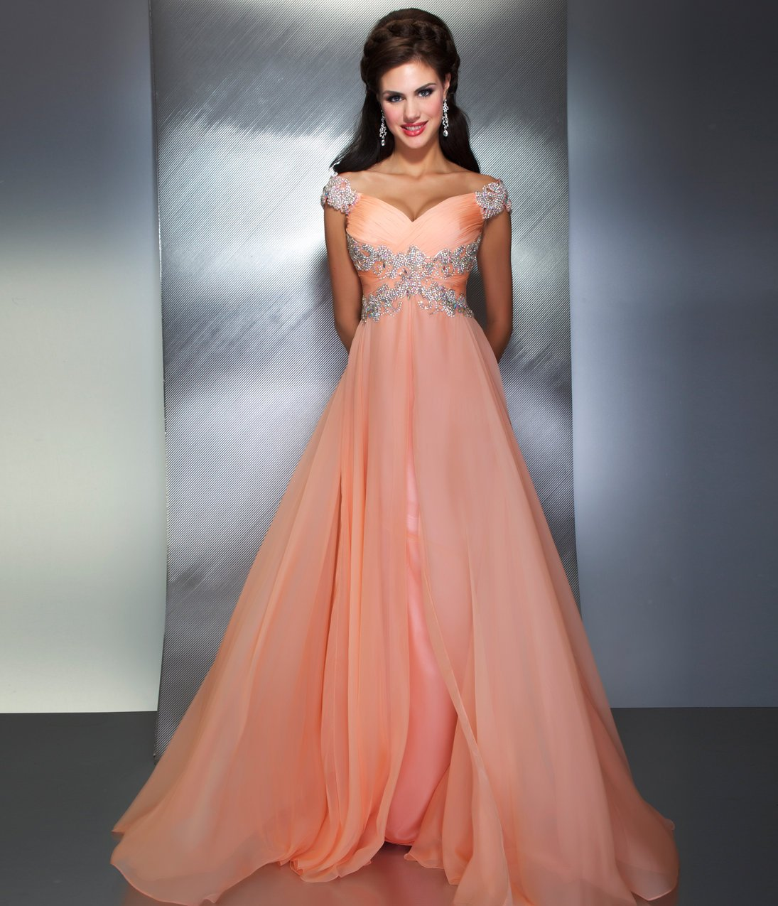 Pink Retro Kitchen Collection Mac Duggal Prom 2013 Peach Gown With From Unique Vintage