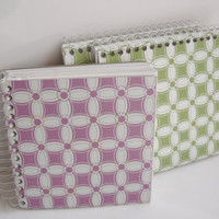 Upcycled notebook set made from repurposed tissue boxes