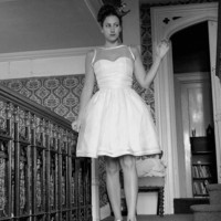 Silk Organza Stripe Wedding Dress  Made to by AlexandraKingBridal