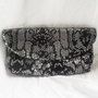 Clutch  Silver faux snake skin clutch  silver fashion by ACAmour