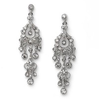 USABride Large Rhinestone Dangle Chandelier Earrings for Evening and Cocktails, Special Occasions 1
