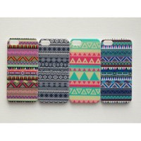 Amazon.com: New 4pcs Aztec Tribal Tribe Pattern Retro Vintage Hard Back Cover Skin Case for Apple Iphone 5 5g 5th-i5at4003: Cell Phones & Accessories