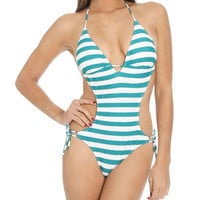 Shimmer Stripe Monokini | Shop Intimates at Wet Seal