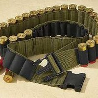 Olive Drab Canvas Shotgun Shell Chest Bandolier - Up To 60 Inches