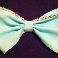 Hand Made Teal Diamond Bow