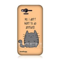 Amazon.com: Ecell - HEAD CASE DESIGNS LAZY CAT PROTECTIVE SNAP-ON HARD BACK CASE COVER FOR HTC RHYME: Cell Phones & Accessories