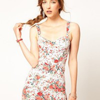 Free People Floral Bodycon Bustier Dress at asos.com