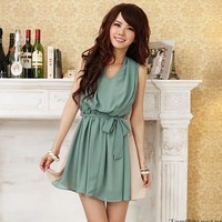 Chiffon Spring One Piece Dress