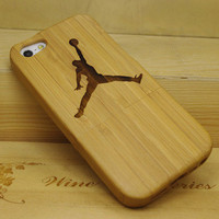 Flying Man iPhone 5 Bamboo Case from Showmall