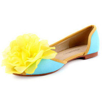 Leatherette Upper Flat Heel Closed Toe With Satin Flower Honeymoon Shoes.More Colors Available - $49.79
