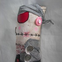 Etsy Transaction - Handmade nautical Pirate Zombie Plush Doll - ADELINDO