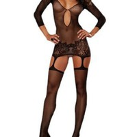Dreamgirl Girls Istanbul Fishnet Garter Dress
