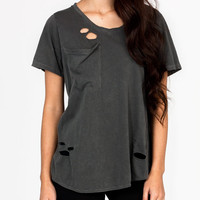 distressed-tulip-back-tee GREY WHITE - GoJane.com