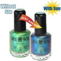 DEL SOL Nail Polish Fingernail ISLAND FEVER COLOR CHANGING FREE SHIPPING