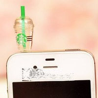 Amazon.com: Cyprustech - Hot New Starbucks Coffee Style 3.5mm Headphone Anti-dust Plug Cap for Iphone 4 4S Samsung Galaxy HTC LG - Transparent Color: Cell Phones & Accessories