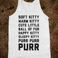 Pretty Kitty-Unisex White Tank