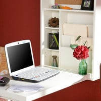 White Alden Foldout Convertible Desk