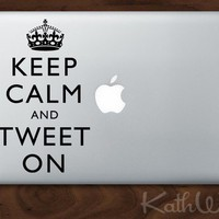 Keep Calm and Carry On Vinyl Macbook Laptop Decals