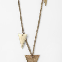 Urban Outfitters - Dundee Dripping Triangle Necklace