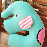 Sentimental Circus San-X Elephant Cute Plush U Shape Neck Cushion Travelling Pillow