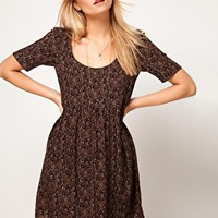 ASOS Smock Dress In Paisley at asos.com