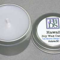 Hawaii Soy Wax Candle by 2bloomsdesignstudio on Etsy