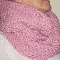Pink Eternity Scarf by 2bloomsdesignstudio on Etsy