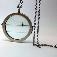 Waiting for You Bird Necklace  FREE Shipping by GardenOfSypria
