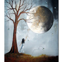 CANVAS ART PRINT Erback 8x10 free shipping moon by shawnaerback