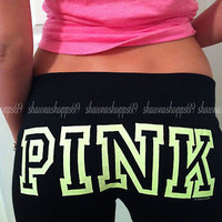 NWOT*VICTORIA'S SECRET LOVE PINK VINTAGE FLARE GRAPHIC LOUNGE SWEAT PANTS XS