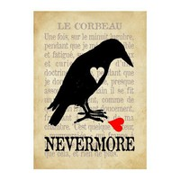 Raven's Lost Heart digital print of love heartache by Parachute425