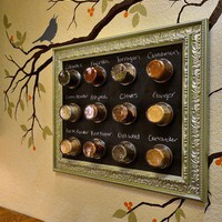 chalk board spice rack