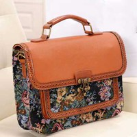 Retro Laced Floral Messenger Bag on Luulla