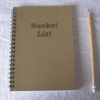Bucket List   5 x 7 journal by JournalingJane on Etsy