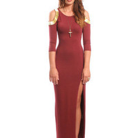 GYPSY WARRIOR - Cleopatra Maroon Maxi Dress