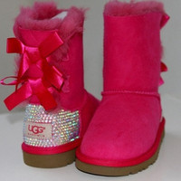 Custom Swarovski Children&#x27;s/Toddler Ugg by MissMackiesBoutique
